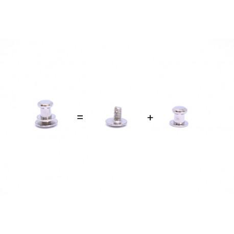 10 бр. Пешка с винт 7 мм - никел
