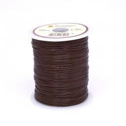 Естествена кожена връв 1 мм, кафява