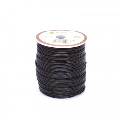 Естествена кожена връв 1,5 мм, черна