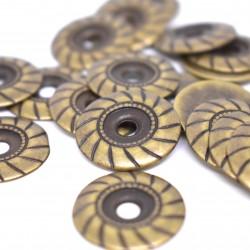 Декоративен орн. розетка 22 мм ант.месинг