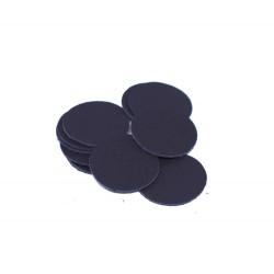 Кожени форми кръг - черен 10 бр./35 мм