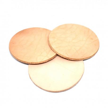 Кожени форми кръг - натурал 3 бр./90 мм