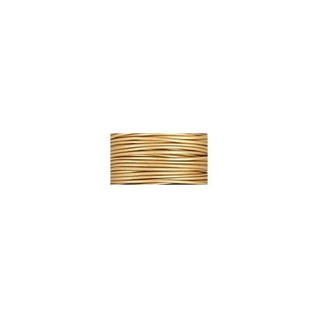 Метализирана ест. кожена връв / корда 2 мм, Злато