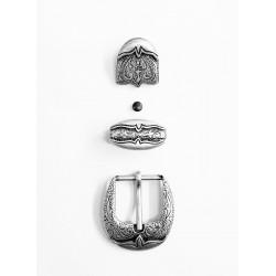 Катарама с орнаменти 3 части 25мм Ант.сребро