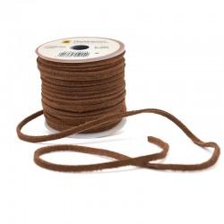 Кожена лента велур 3х2 мм - средно кафяво