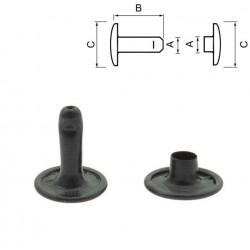 Двулицев рапид 10 мм - Черен мат