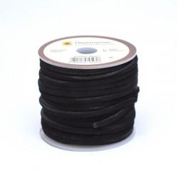 Кожена лената велур 3x2 мм, черна