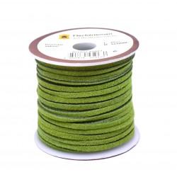 Кожена лента велур 3х2 мм - лайм