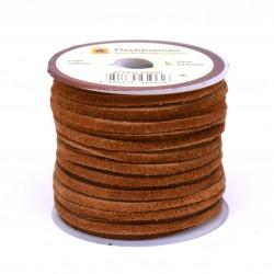 Кожена лента велур 3х2 мм - цвят ръжда
