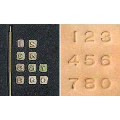 Сет щампи: Числа- Simplicity
